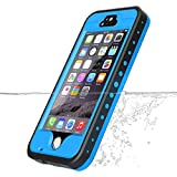 iPhone 5S Waterproof Case, Vcloo iPhone 5 Waterproof Case,Dust Proof, Snow Proof, Shock Proof Case, Heavy Duty Protective Carrying Cover Case for iPhone 5, 5S with Touched Screen Protector (Blue)