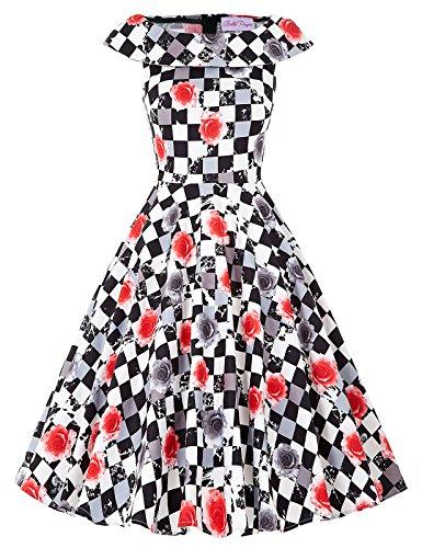 Belle Sleeveless Floral Vintage Dresses