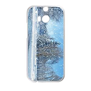 The Snowing Day Hight Quality Plastic Case for HTC M8