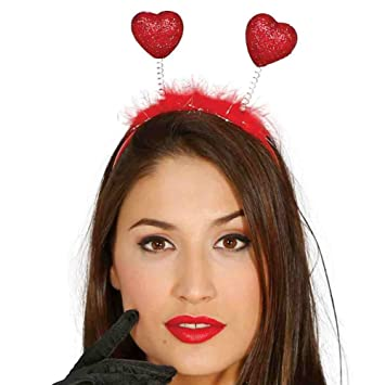 RED SEQUIN BOW HEADBAND FANCY DRESS ACCESSORY HAIR BAND PINK LADY 80/'S HEN NIGHT