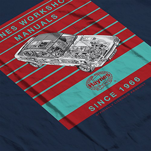 Haynes Workshop Manual 0375 Ford Capri II V6 Stripe Women's Vest Navy blue