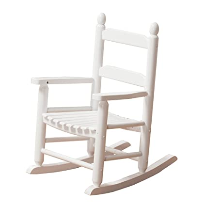 Ordinaire KD 20W Rocking Kidu0027s Chair Wooden Child Toddler Patio Rocker Classic White