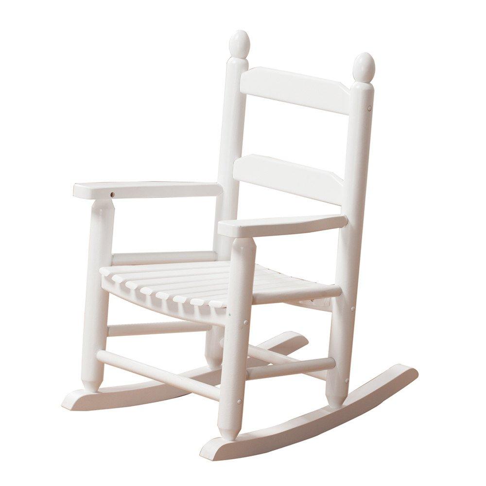 B&Z KD-20W Rocking Kid's Chair Wooden Child Toddler Patio Rocker Classic White