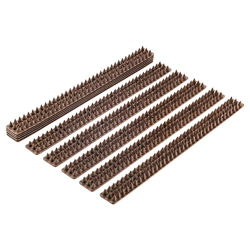 Abco Tech Bird Spikes - Set of 10 x 48.8 cm Anti-Climbing Security for Your Fence, Walls & Railings...