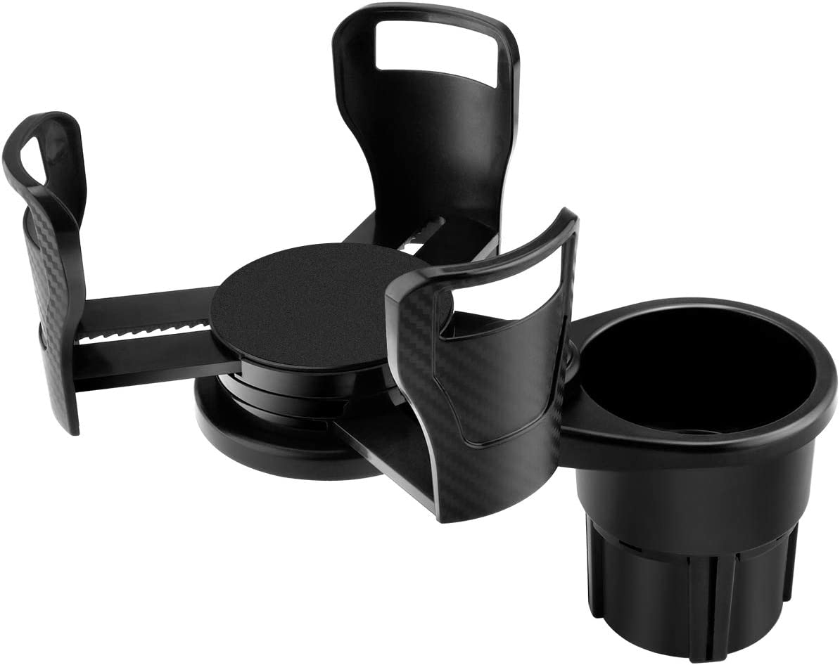 LITEBEE Dual Car Cup Holder, Cup Extender, Hydro-Flask Cup Holder Adjustable and Extendable Suitable for Large Water Bottle