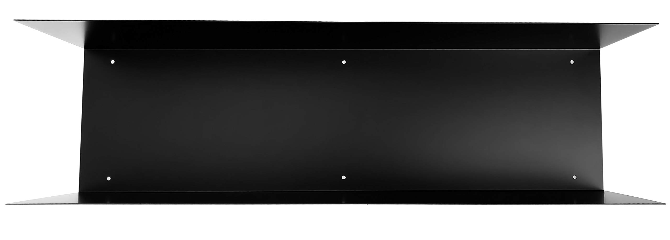 DIY CARTEL Floating U/C Shelf - Made in The USA from Raw Forged Steel - Professionally Powder Coated Black - Industrial Heavy Duty Metal - Wall Mounted Modern Minimal Scandinavian Botkyrka Shelf