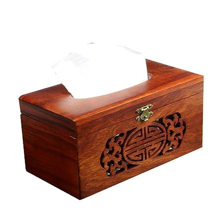 caja de pañuelos Papel de Madera Caja de Almacenamiento de ...