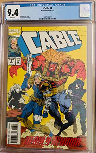 CABLE #4 GRADED BY CGC 9.4 NM, BART SEARS COVER - 1993-1ST PRINT