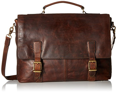 Frye Men's Logan Top Handle, Dark Brown, One Size by FRYE