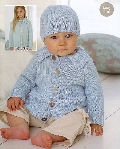 Snuggly Baby Bamboo Cardigans & Beret (#1868)