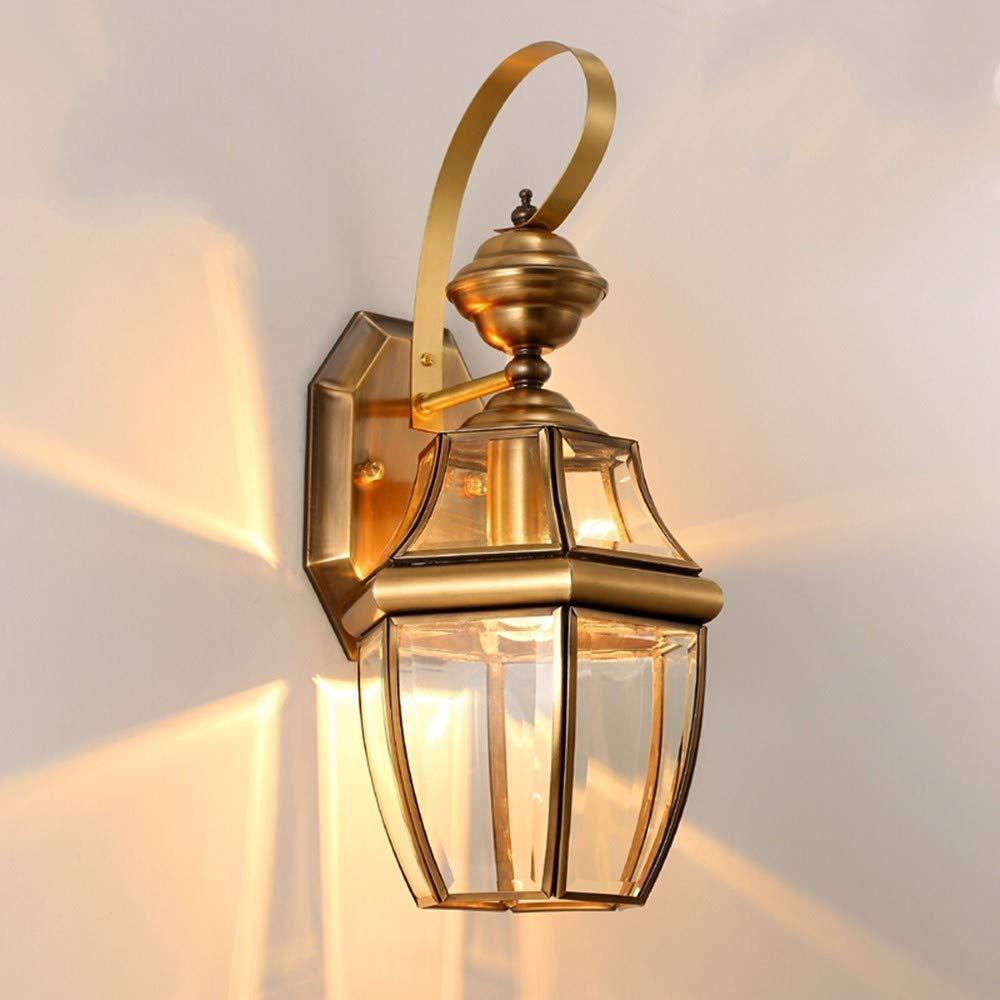 Lampada da parete per esterni a luce piena in rame impermeabile adatta per corridoio balcone corridoio giardino XCBD