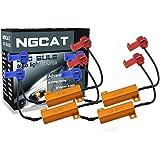 NGCAT 4pcs 50W 8 ohm LED Bulb Load Resistors Headlight Load Resistor Fog Lamps Decoder LED Fast Hyper Flash Turn Signal Fog Lights Resistor(Fix Hyper Flash, Warning Cancellor)