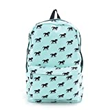 Horse Back to School Canvas Backpack