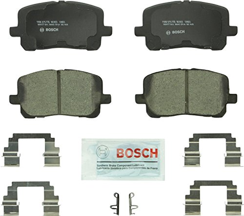Bosch BC923 QuietCast Premium Ceramic Disc Brake Pad Set For: Pontiac Vibe; Toyota Corolla, Matrix, Front