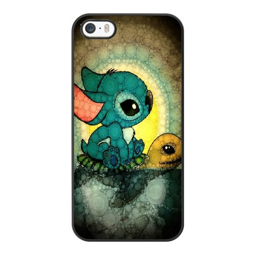 Coque,Coque iphone 5 5S SE Case Coque, Lilo And Stitch Turtle Cover For Coque iphone 5 5S SE Cell Phone Case Cover Noir