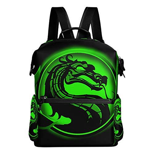 Dragon Unisex Rucksack Canvas Satchel Casual Daypack,School College Student Backpack