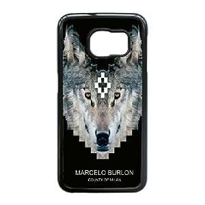 Custom Cell Phone Case Samsung Galaxy S6 Edge Black Case Cover Marcelo Burlon Brand Logo 12QW4720682