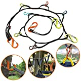 YQI Outdoor Camping Lanyard Hook, Camping Rope Outdoor Storage Rope Outdoor Travel Camping Clothesline Camping Outdoor Tent Accessories Can be Hung Various Sizes Kettles, Mugs, Mugs, Pots, Bowls