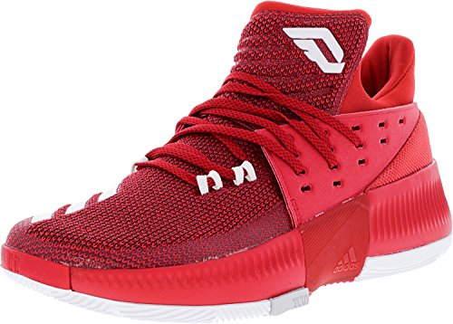 Adidas Dame 3 Sko Mænds Basketball Rød / Hvid / Grå z51u7SXik