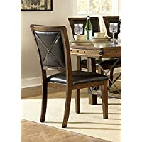 Rustic Turnbuckle Dining Room Furniture in Burnished Oak (2 Chairs)