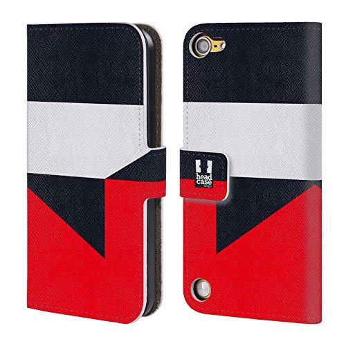 Head Case Designs Geisha Mattoncini Colorati Cover a portafoglio in pelle per iPod Touch 5th Gen / 6th Gen