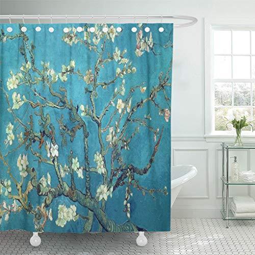 Semtomn Shower Curtain Van Almond Blossoms Gogh Vincent Fine Masterpiece Museum Famous 72