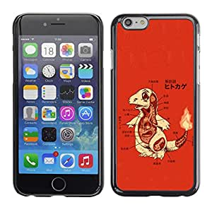 LECELL--Funda protectora / Cubierta / Piel For iPhone 6 -- Charizo P0kemon --