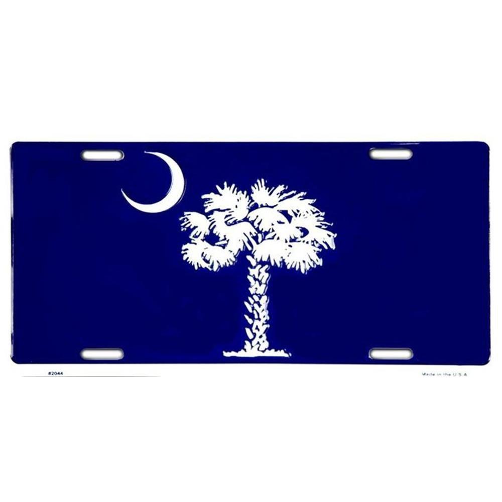 Signs 4 Fun SLSC2 SC Blue Palmetto License Plate