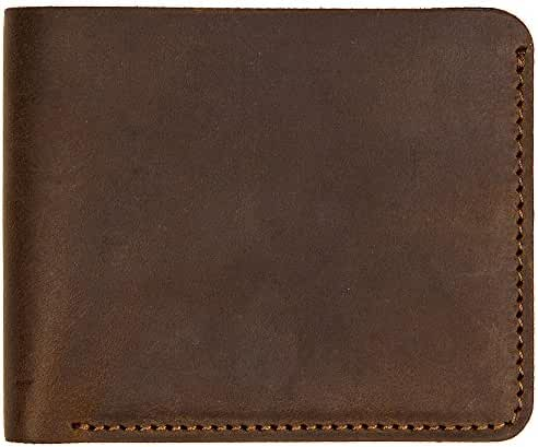 Villini Bifold Leather Men's Wallet with Cash Pocket and Card Holder Slots