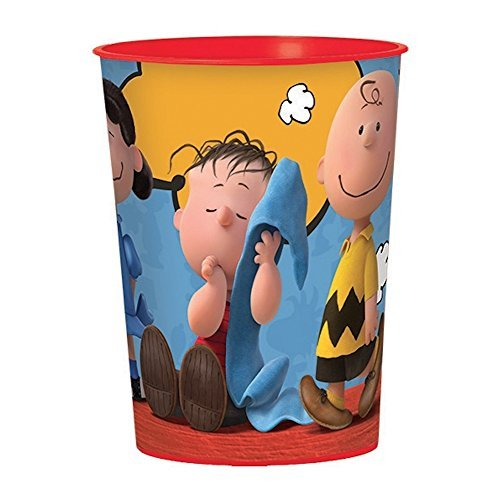 Classic Peanuts Birthday Party Favour Cup , Plastic , 16 (Charlie Brown And Linus Halloween Costumes)