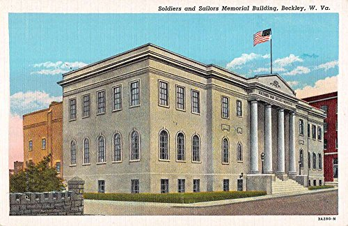 Beckley West Virginia Soldiers And Sailors Memorial Building Postcard ()
