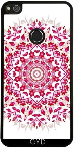 Funda de silicona para Huawei P8 Lite 2017 - Rosa Mandala De La Flor Blanca by Nina Baydur