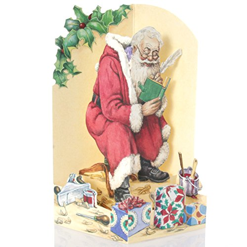 3D Christmas Greeting Card Santa`s Workshop - Ampersand Studio