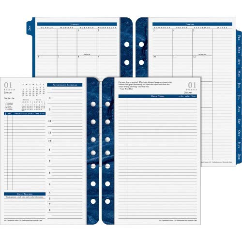 - Franklin Covey Classic Monticello Dated Two-Page-Per-Day Planner Refill, 5 1/2 x 8 1/2 (2019)