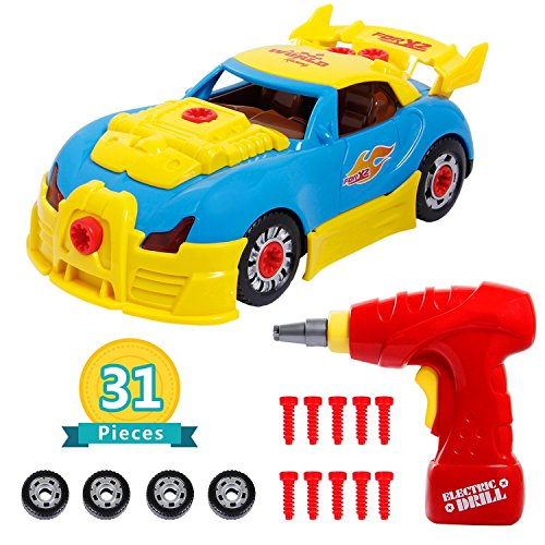 iFixer Take Apart Race Car Toy for Kids Birthday Gift