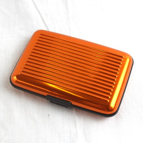 b793108c89a1 Elixir Aluminum Credit Card Wallet RFID Blocking Case, Orange