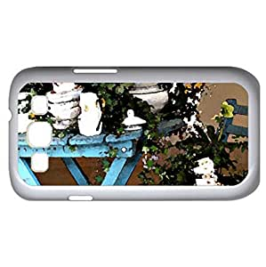 A Mad Tea Party (Houses Series) Watercolor style - Case Cover For Samsung Galaxy S3 i9300 (White)