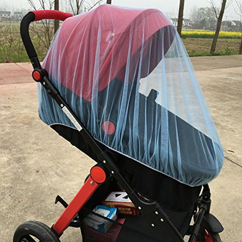 Vibola® Baby Stroller Mosquito Net, Baby Portable Folding Mosquito Cotton Net Full Insect Cover Carriage Kid Foldable Kids Netting (Blue)