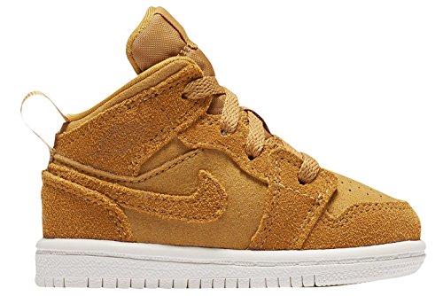 timeless design ad840 6b60a NIKE Jordan 1 Mid (BT) Toddlers Shoes Golden Harvest/Sail 640735-725 (6 M  US)