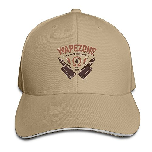 Custom Cute Unisex-Adult Wapezone In-Vape-We-Trust Trucker Cap Hat Natural (Vaporizer Natural Juice)