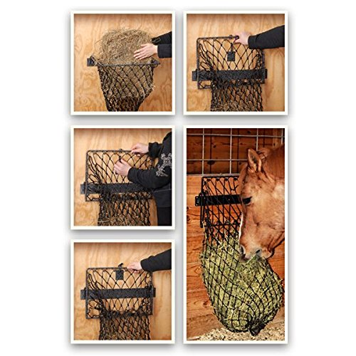 Tough-1 Hay Hoops Original Collapsible Wall Feeder w/Net -