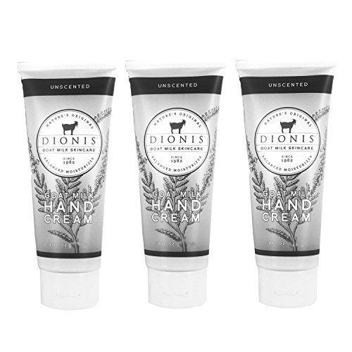 Dionis Goat Milk Hand Cream 3 Piece Travel Gift Set - Unscen