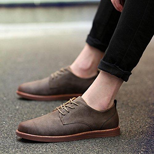 Casual Moda Inglaterra Cuero Negocios De Toamen Trabajo Hombres Encadenar De De B Los Zapatos El q8qxz7BtOw