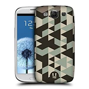 TopFshion Designs Brown Geometric Camo Protective Snap-on Hard Back Case Cover for Samsung Galaxy S3 III I9300