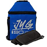 Isolator Fitness ISOJUG Insulated One Gallon Water Jug Holder with ISOBRICK and Shoulder Strap -MADE IN USA (Blue)