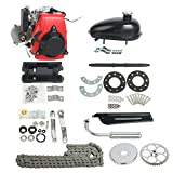 "YaeTek 49cc Powerful Pull Start 4-Stroke Cycle Motor Kit Compete Gas Kit Motorized Bike Petrol Gas Bicycle Engine for 28"" V Frame Bike and 26"" ATV"