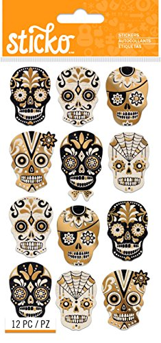 Sticko Halloween Silhouette Sugar Skull Stickers for $<!--$0.01-->