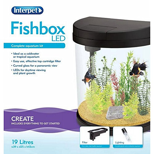 Interpet Limited Complete Half Moon Aquarium Kit (One Size) (Multicolored) by Interpet Limited