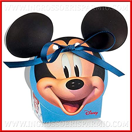 Ingrosso e Risparmio - 10 Cajas para Caramelos con Forma de Mickey Mouse de cartón, Ideas para Manualidades, Recuerdos de Nacimiento, Primer cumpleaños para niño: Amazon.es: Hogar