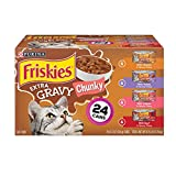 Purina Friskies Gravy Wet Cat Food Variety Pack; Extra Gravy Chunky - (24) 5.5 oz. Cans